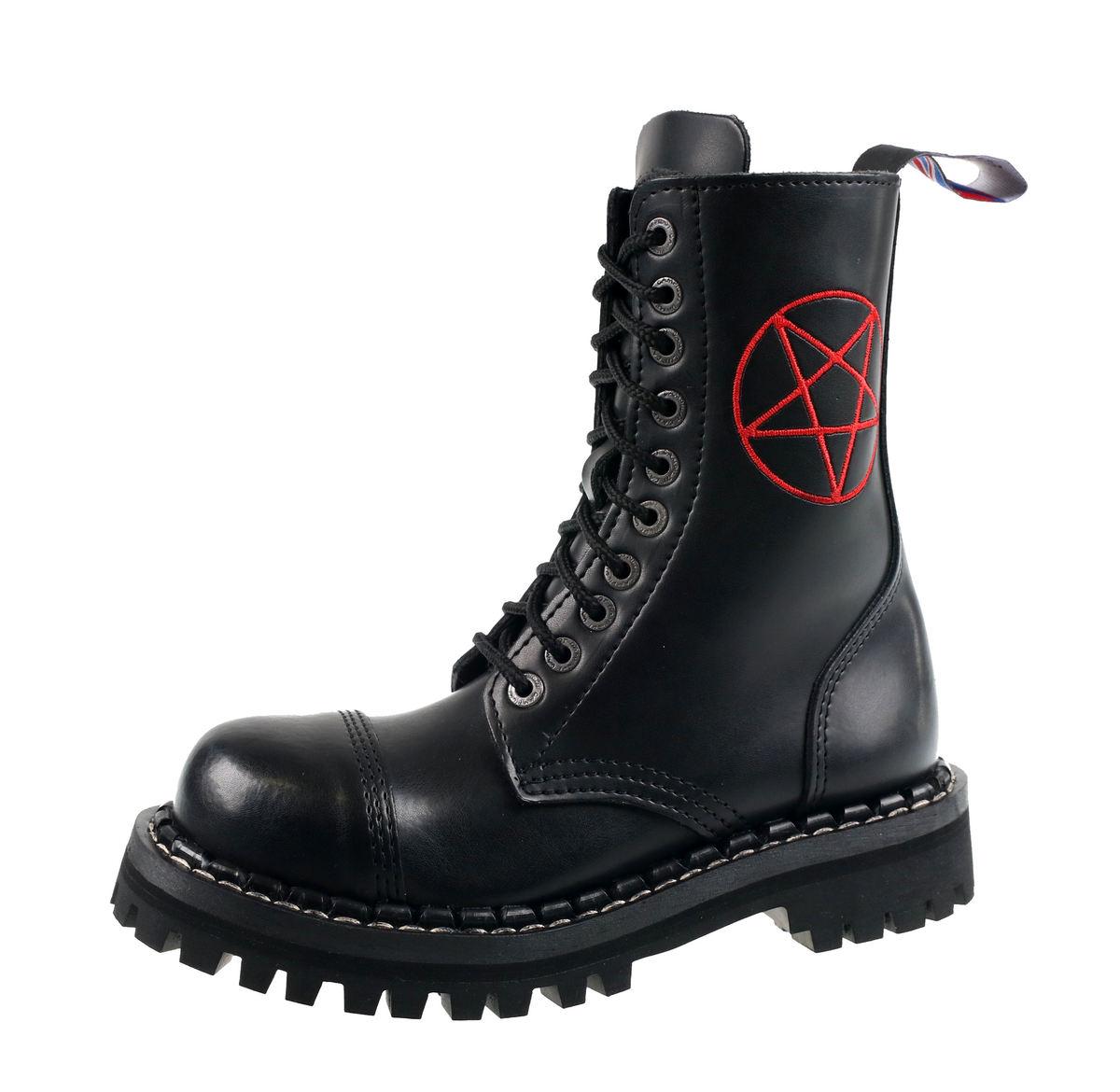 31a3593485ea topánky STEADY´S - 10 dierkové - Pentagram red - STE 10 H pentagram ...