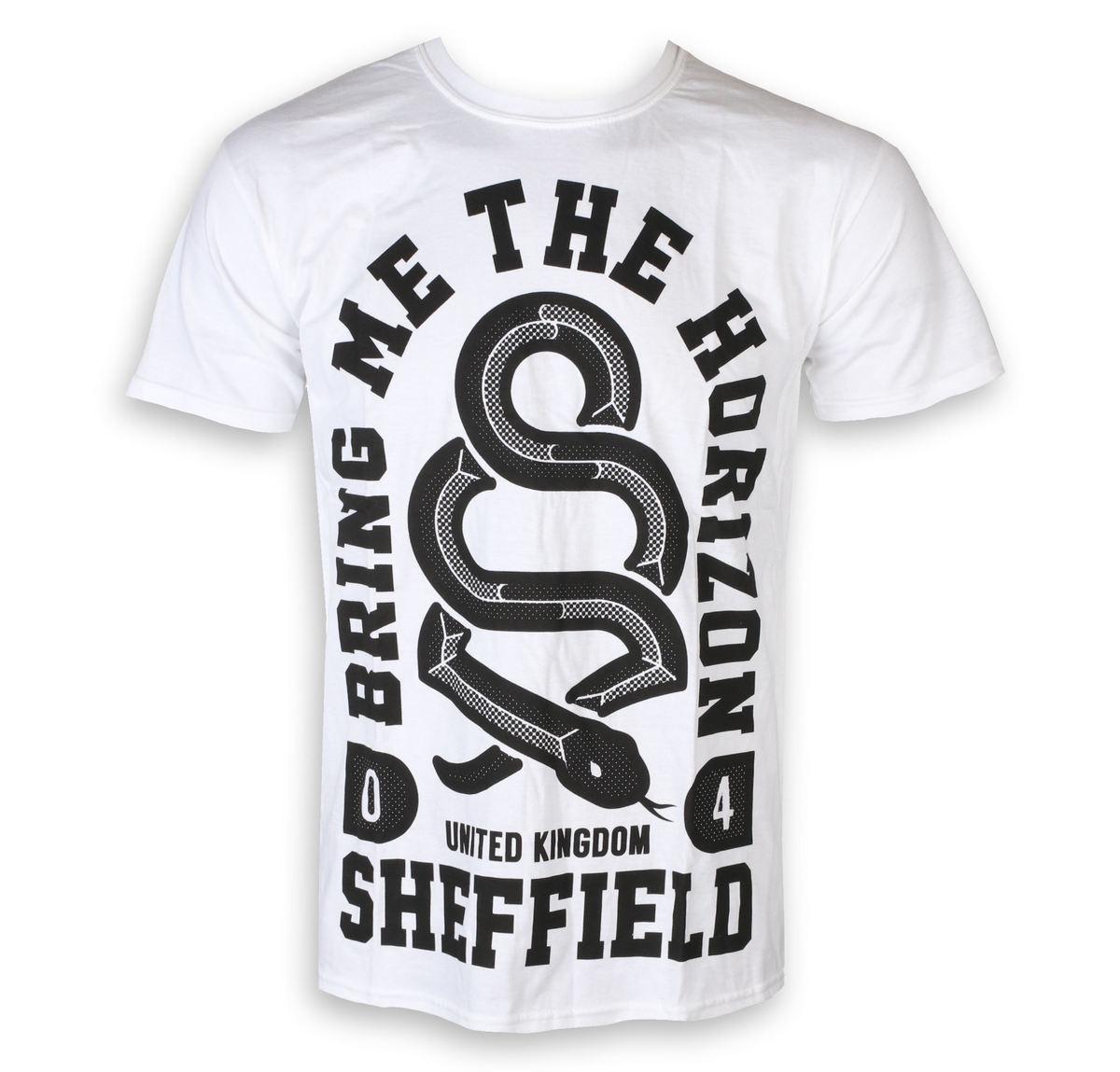 tričko pánske Bring Me The Horizon - Snake Men - White - ROCK OFF - BMTHTS20MW
