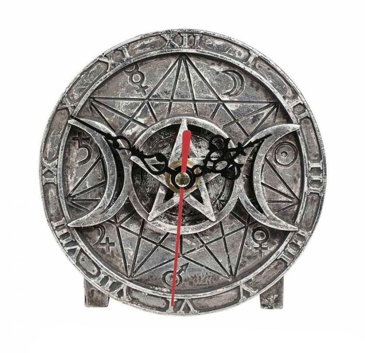 hodiny (dekorácia) ALCHEMY GOTHIC - Wiccan - V88