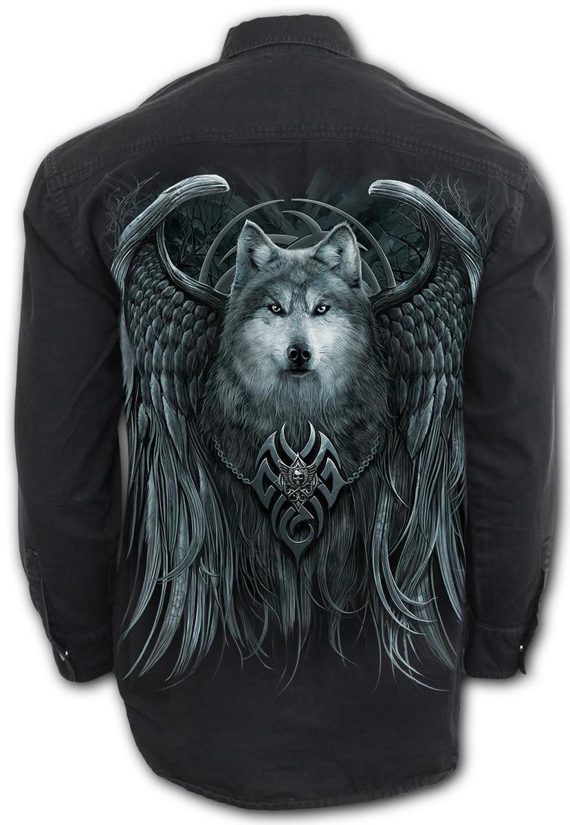 košele pánska s dlhým rukávom SPIRAL - WOLF SPIRIT - T167M610