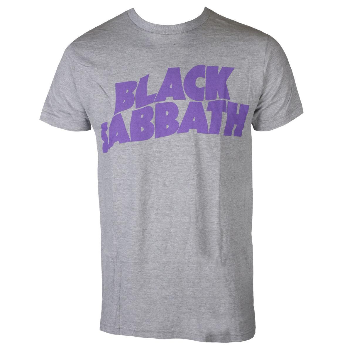 tričko pánske BLACK SABBATH - PURPLE LGO T GRY - BRAVADO - 34191140