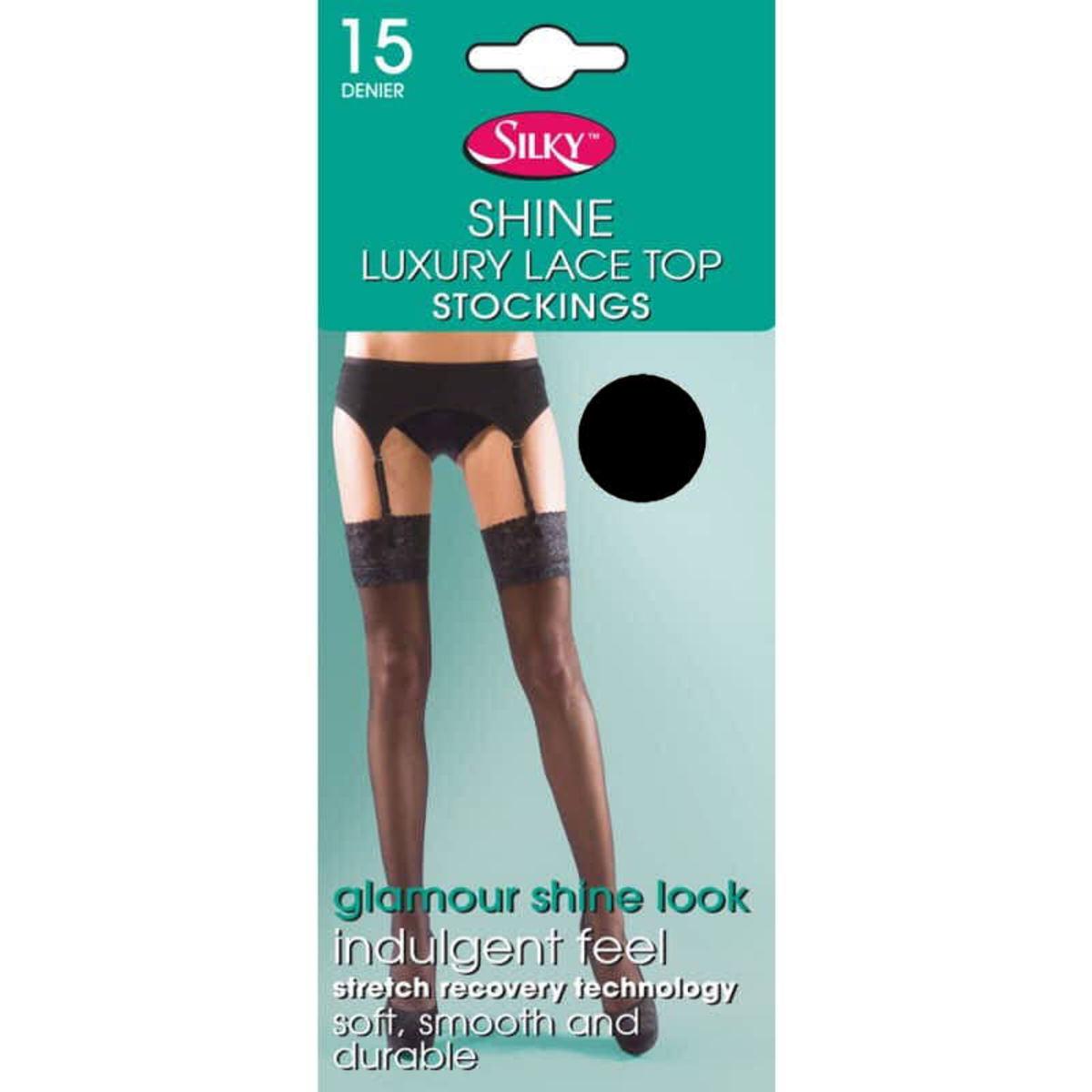 pančucháče LEGWEAR - shine lace top - black - SHSSLS0BL1