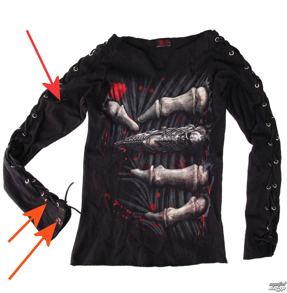 tričko dámske s dlhým rukávom SPIRAL - Death Grip - POŠKODENÉ - BEA019